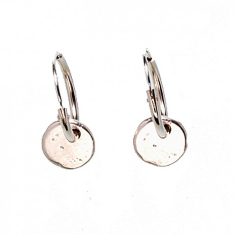 Hultquist Classic Silver Plated Coin Hoop Earrings