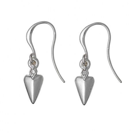 Pilgrim Jewellery Silver Plated Heart Drop Earrings