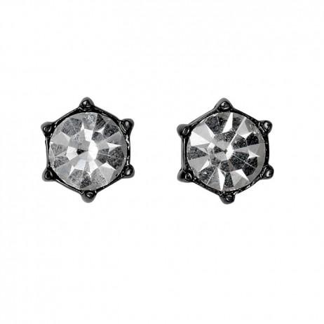 Pilgrim Jewellery Hematite Plated Crystal Stud Earrings