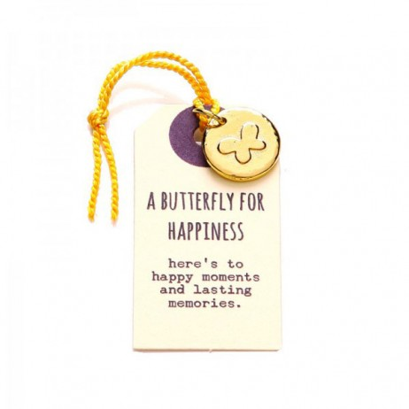 Kutuu Jewellery Gold Plated Butterfly For Happiness Charm