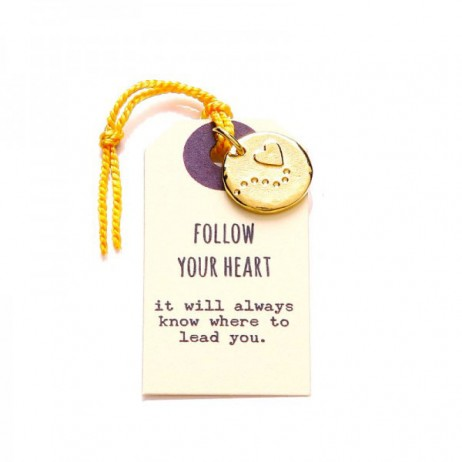 Kutuu Jewellery Gold Plated Follow Your Heart Charm