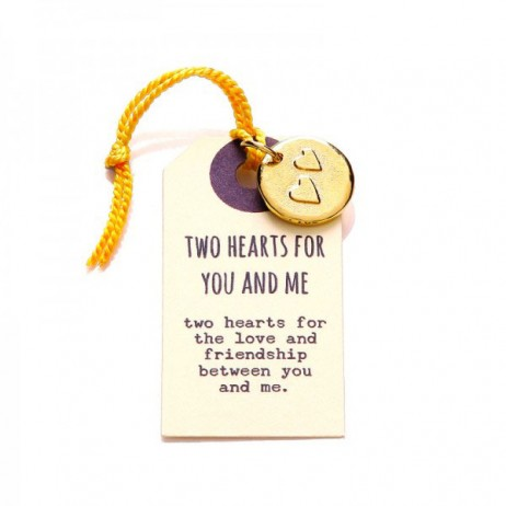 Kutuu Jewellery Gold Plated Two Hearts For You And Me Charm