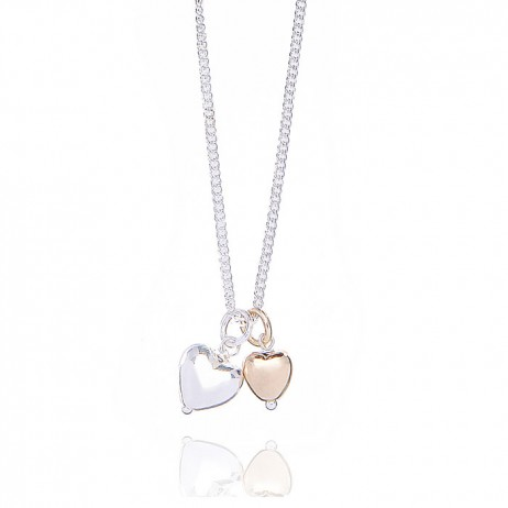 Joma jewellery love story bi colour necklace