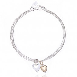 Joma jewellery love story bi colour bracelet