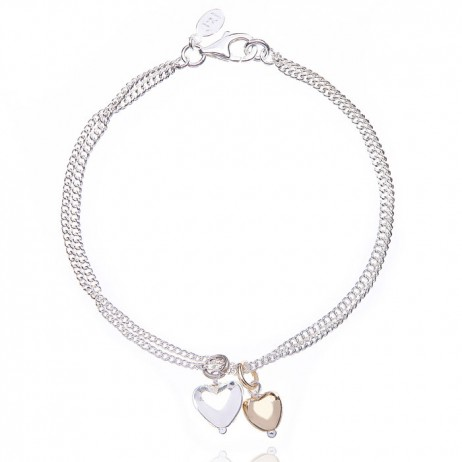 Joma jewellery love story bi colour bracelet 458  - EOL