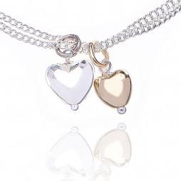 Joma jewellery love story bi colour bracelet