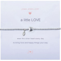 Joma girls a little love bracelet silver heart C021
