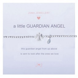 Joma girls a little guardian angel silver bracelet