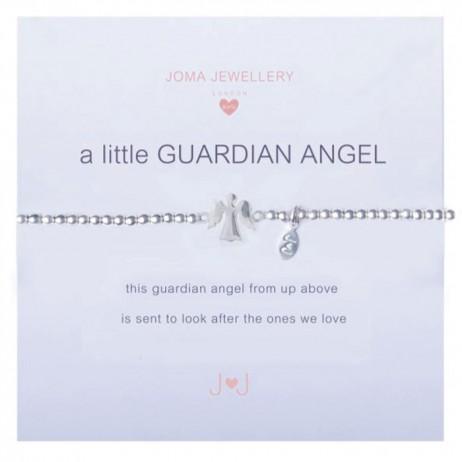 Joma girls a little guardian angel silver bracelet