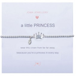 Joma girls a little princess silver bracelet