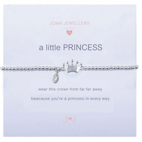 Joma girls a little princess silver bracelet C026 -EOL