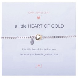 Joma girls a little heart of gold silver bracelet
