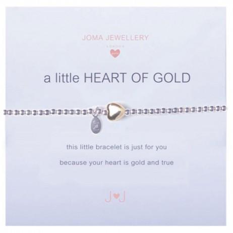 Joma girls a little heart of gold silver bracelet C028 - EOL