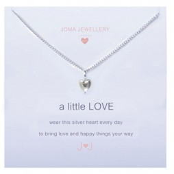 Joma girls a little love necklace silver heart C047