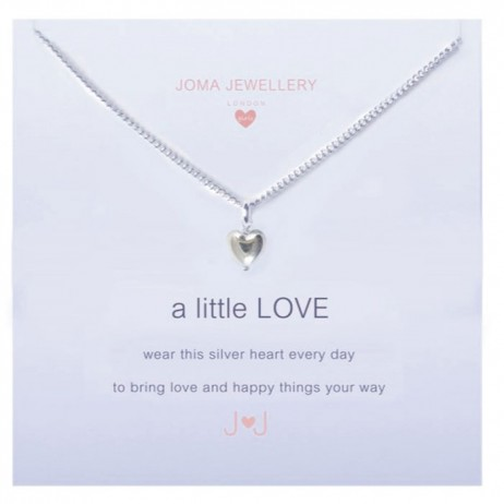 Joma girls a little love necklace silver heart C047 - EOL