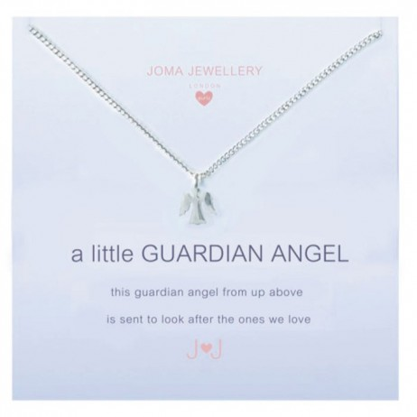 Joma girls a little guardian angel silver necklace