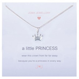 Joma girls a little princess silver necklace C051