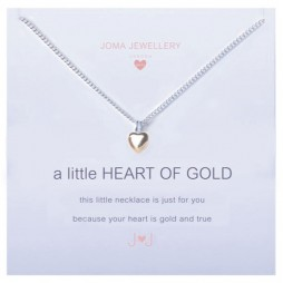 Joma girls a little heart of gold silver necklace