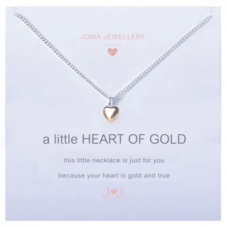 Joma girls a little heart of gold silver necklace C053