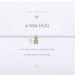 Joma Jewellery Children's a little Bear Hug Silver Bracelet