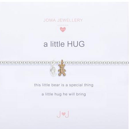 Joma Jewellery Children's a little Bear Hug Silver Bracelet C216