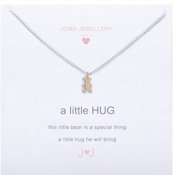 Joma Jewellery Children's a little Bear Hug silver necklace