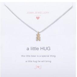 Joma Jewellery Children's a little Bear Hug silver necklace