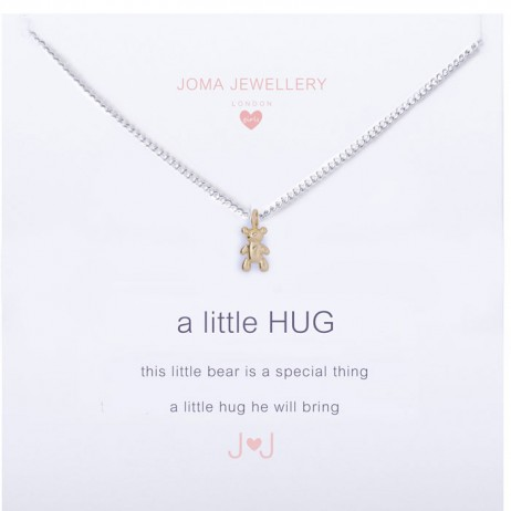 Joma Jewellery Children's a little Bear Hug silver necklace C319
