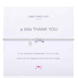 Joma Jewellery a little Thank You Bridesmaid Bracelet 365