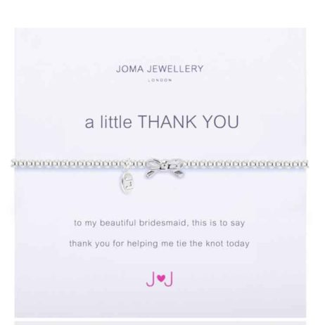Joma jewellery a little thank you bracelet for bridesmaids 365
