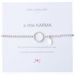 Joma jewellery a little karma silver plated bracelet 171