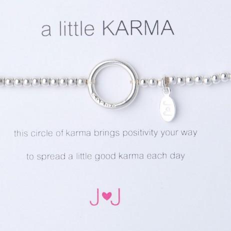Joma jewellery a little karma silver plated bracelet 171
