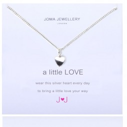 Joma jewellery a little love silver heart necklace 476