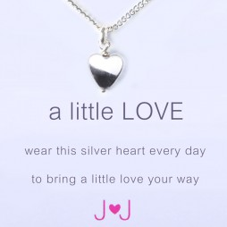 Joma jewellery a little love silver heart necklace