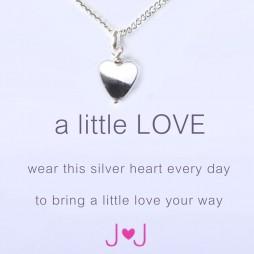 Joma jewellery a little love silver heart necklace