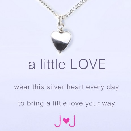 Joma jewellery a little love silver heart necklace 476 EOL