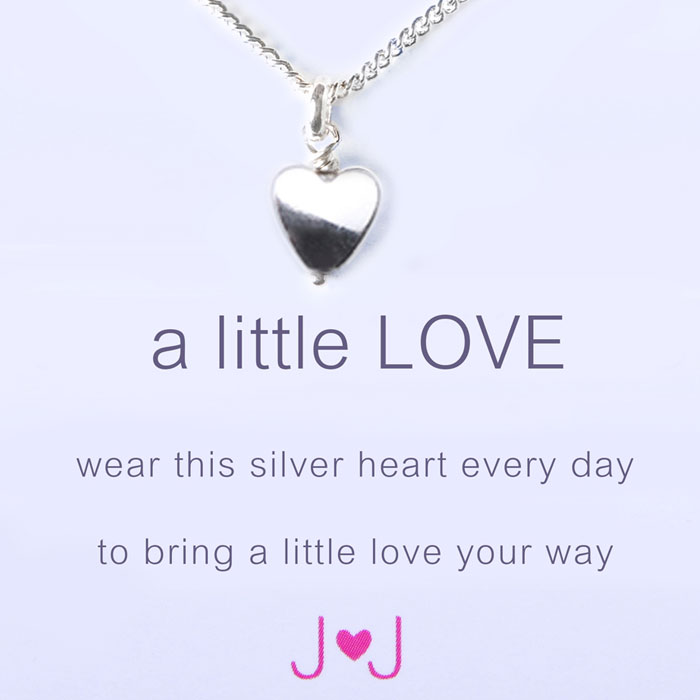 A Little Love Silver Heart Necklace By Joma Jewellery hzb3gMF
