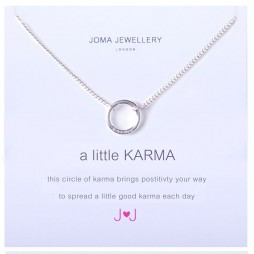 Joma jewellery a little karma silver plated necklace