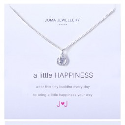 Joma jewellery a little happiness silver buddha necklace