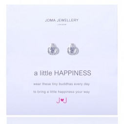 Joma jewellery a little happiness silver buddha earrings