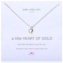 Joma jewellery a little heart of gold silver necklace