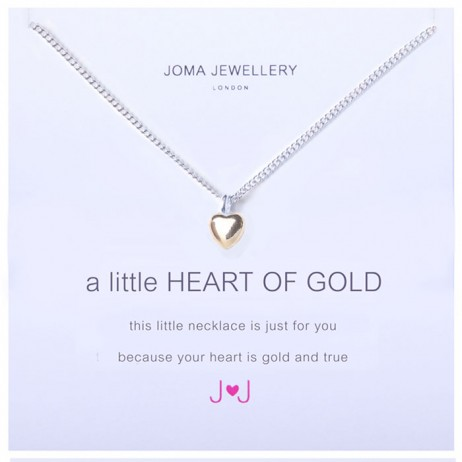 Joma Jewellery a little Heart of Gold Silver Necklace 518 *