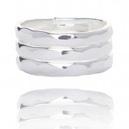 Joma jewellery silver plated piper ring