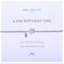 Joma jewellery a little birthday girl silver bracelet 688