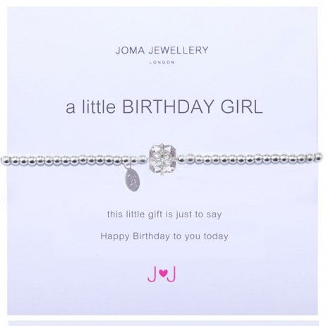 Joma jewellery a little birthday girl silver bracelet 688 *