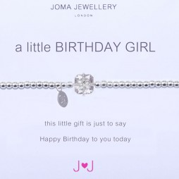 Joma jewellery a little birthday girl silver bracelet