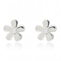 Joma jewellery silver plated daisy earrings 803