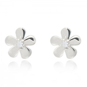 Joma jewellery silver plated daisy earrings