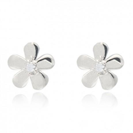 Joma jewellery silver plated daisy earrings 803
