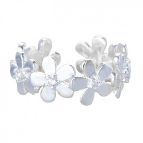 Joma jewellery silver plated daisy ring